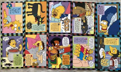 The Simpsons 1994 SkyBox Series 2 complete set of 10 Smell-O-Rama insert cards