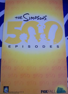 The Simpsons 500 Episodes 2011 Comic-Con promo poster