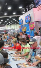 The Simpsons cast autographed & doodled 2016 Comic-Con poster (Matt Groening Nancy Cartwright)