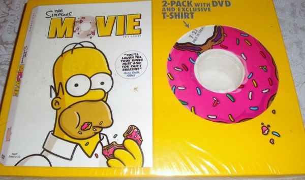 The Simpsons Movie DVD with exclusive T-shirt NEW & SEALED
