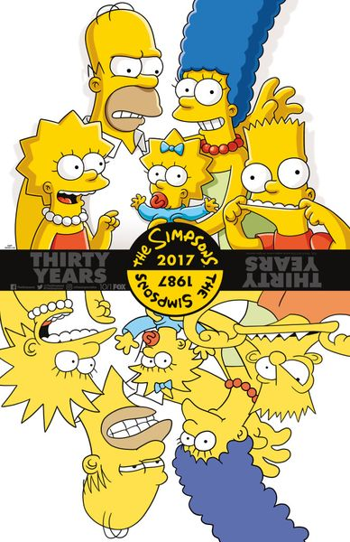 The Simpsons Thirty Years 2017 Comic-Con 11x17 mini poster