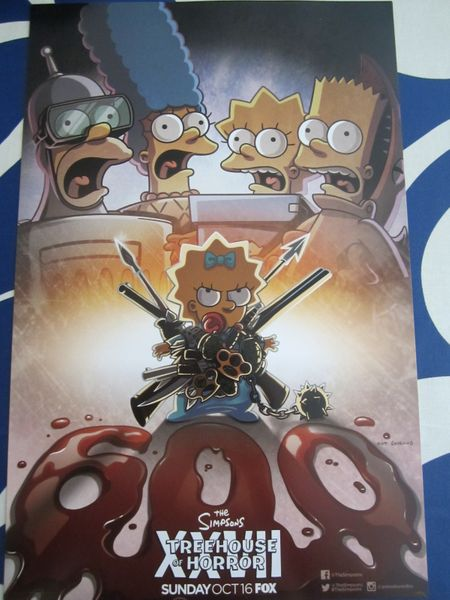 The Simpsons Treehouse of Horror 2016 Comic-Con 11x17 promo poster