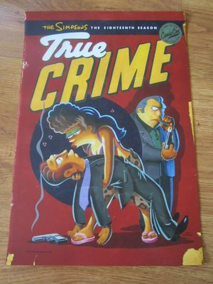 The Simpsons True Crime 2017 Comic-Con exclusive 13x20 inch mini poster