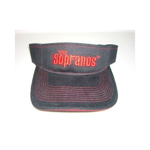 The Sopranos black and red embroidered HBO visor NEW WITH TAGS