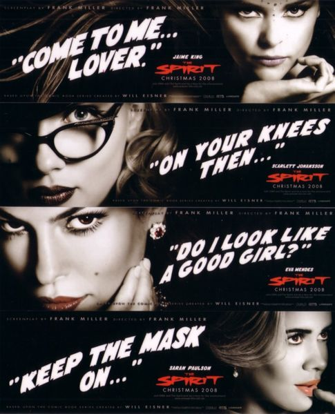 The Spirit movie bookmark set (Scarlett Johansson Jaime King Eva Mendes Sarah Paulson)