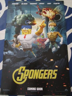 SpongeBob SquarePants Sponge Out of Water 2014 Comic-Con mini movie poster (The Spongers)