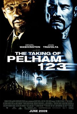 The Taking of Pelham 123 movie full size poster (John Travolta & Denzel Washington)