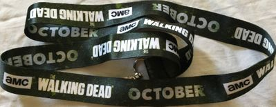 The Walking Dead 2018 Comic-Con green cloth lanyard
