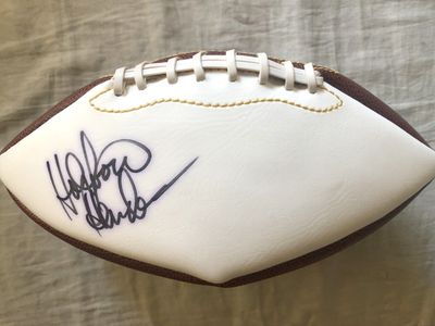 Thomas (Hollywood) Henderson autographed full size white panel football