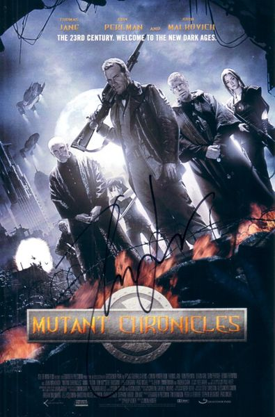 Thomas Jane autographed Mutant Chronicles movie 2008 Comic-Con 6x9 promo card