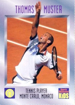 Thomas Muster 1995 Sports Illustrated for Kids card
