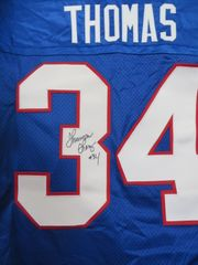 Thurman Thomas autographed Buffalo Bills authentic Nike stitched blue jersey