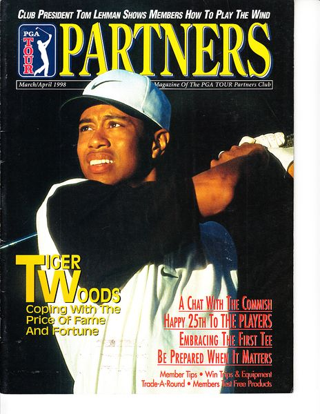 Tiger Woods 1998 and 2005 PGA Tour Partners magazines