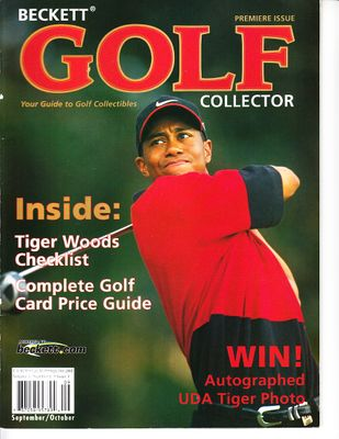 Tiger Woods 2001 Beckett Golf magazine issue #1