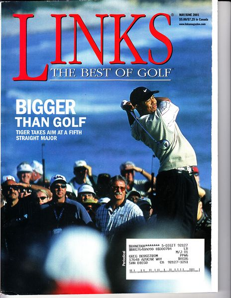 Tiger Woods 2001 Links (The Best of Golf) magazine