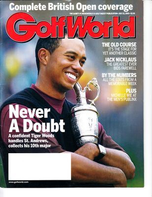 Tiger Woods 2005 British Open Golf World magazine