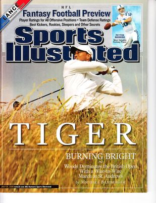Tiger Woods 2005 British Open Sports Illustrated (no label)