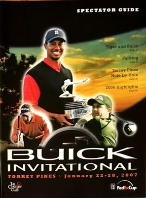 Tiger Woods 2007 Buick Invitational PGA Tour program
