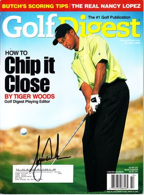 Tiger Woods autographed 2002 Golf Digest magazine