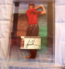 Tiger Woods autographed 2002 PGA Tour Player of the Year floating 8x10 photo acrylic plaque UDA