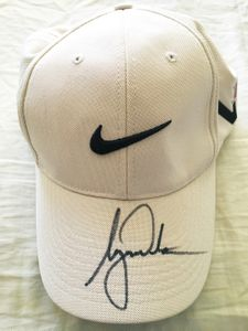Tiger Woods autographed Nike 20XI Tour beige golf cap or hat