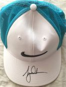 Tiger Woods autographed Nike Golf white cap or hat