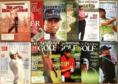 Tiger Woods lot of 11 different 2003 to 2014 Sports Illustrated Golf Plus magazine issues