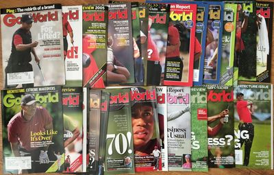 Tiger Woods lot of 28 different 2005 to 2013 Golf World magazine issues