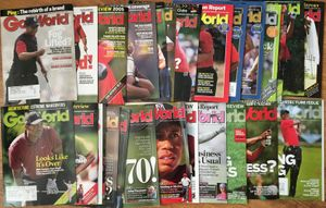 Tiger Woods lot of 28 different 2005-2013 Golf World magazine issues