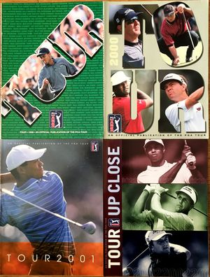 Tiger Woods lot of four PGA Tour magazines 1998 2000 2001 2002
