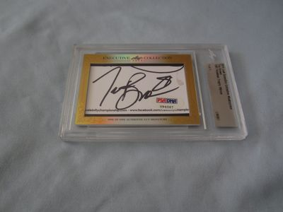 Tim Brown 2015 Leaf Masterpiece Cut Signature certified autograph card 1/1 PSA/DNA