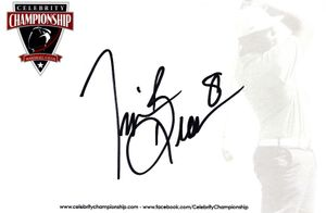 Tim Brown autographed 4x6 signature card (full name signature)