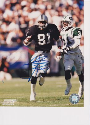 Tim Brown autographed Oakland Raiders 8x10 photo