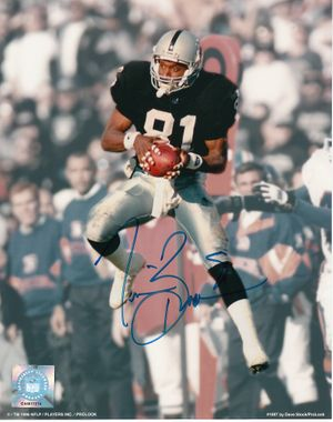 Tim Brown autographed Oakland Raiders 8x10 photo (full name signature)