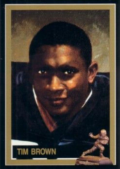 Tim Brown Notre Dame 1987 Heisman Trophy winner card