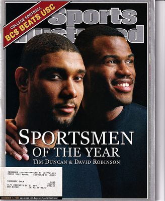 Tim Duncan and David Robinson Sportsmen of the Year 2003 Sports Illustrated magazine