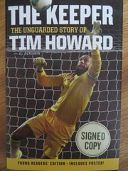 Tim Howard autographed The Keeper hardcover soccer book (Young Readers' Edition)