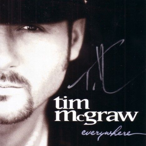 Tim McGraw autographed Everywhere CD booklet