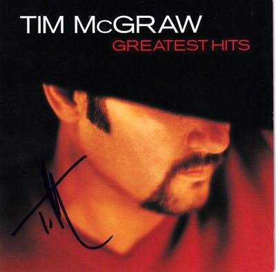 Tim McGraw autographed Greatest Hits CD booklet