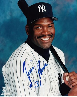 Tim Raines autographed New York Yankees 8x10 portrait photo