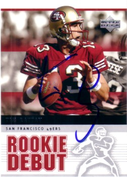 Tim Rattay autographed San Francisco 49ers 2005 Upper Deck card