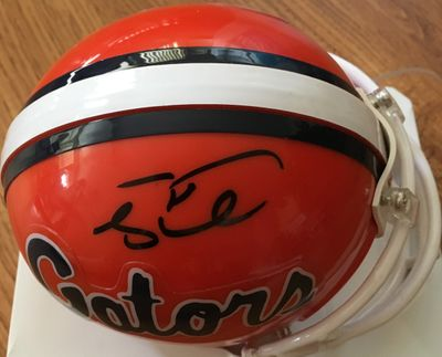 Tim Tebow autographed Florida Gators mini helmet
