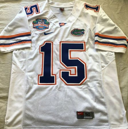 Tim Tebow Florida Gators authentic Nike 2009 BCS Championship GAME MODEL jersey