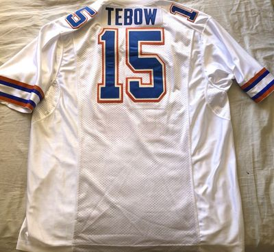Tim Tebow Florida Gators authentic Nike 2009 BCS Championship stitched white XL jersey