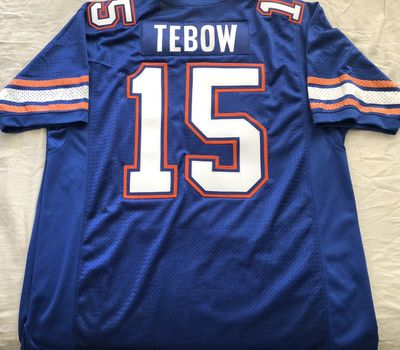 Tim Tebow Florida Gators authentic Nike game model blue triple stitched jersey NEW