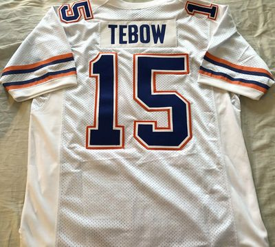 Tim Tebow Florida Gators 2009 BCS Championship authentic Nike game model white stitched jersey