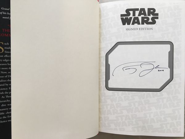 Timothy Zahn autographed Star Wars Thrawn Treason hardcover book NEW (2019 Comic-Con exclusive edition)