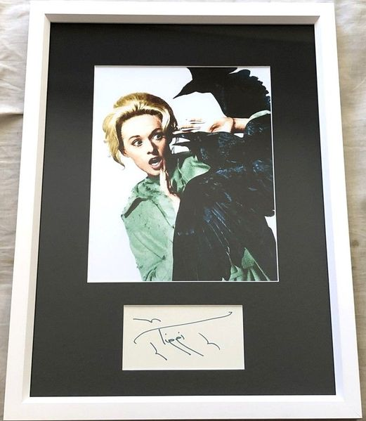 Tippi Hedren autograph matted and framed with The Birds 8x10 movie photo