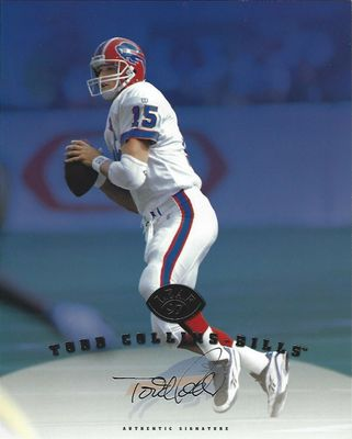 Todd Collins certified autograph Buffalo Bills 1997 Leaf 8x10 photo card