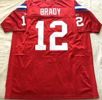 Tom Brady New England Patriots 2009 authentic Reebok red game model third jersey NEW